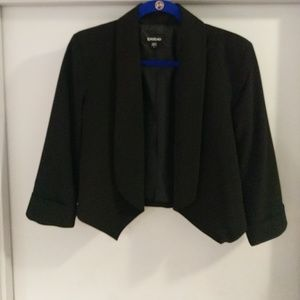 Bebe Cropped Black Blazer